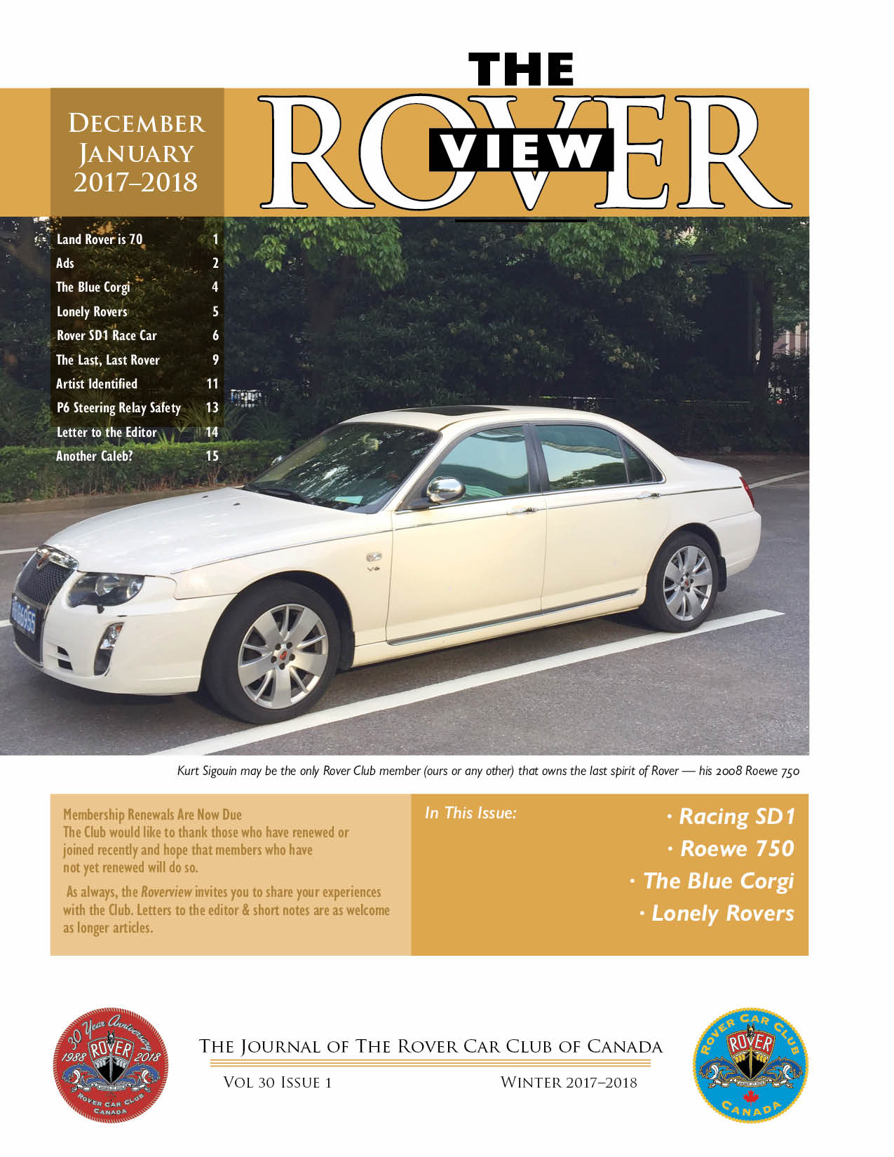 Complete RoverView Magazines Are Available For Members Only